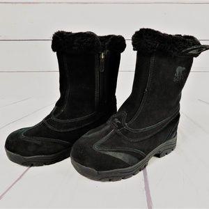 Sorel Women's Suede Winter Snow Boots, Black
